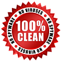 100% Clean - No Virus/No Spyware